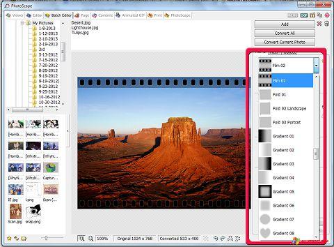 સ્ક્રીનશૉટ PhotoScape Windows XP