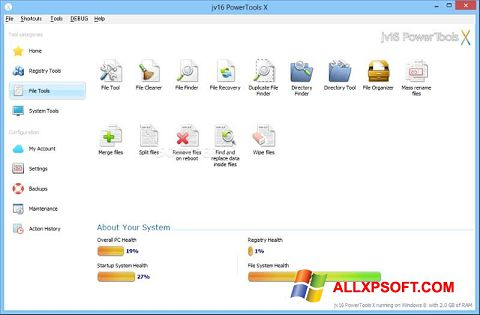 સ્ક્રીનશૉટ jv16 PowerTools Windows XP