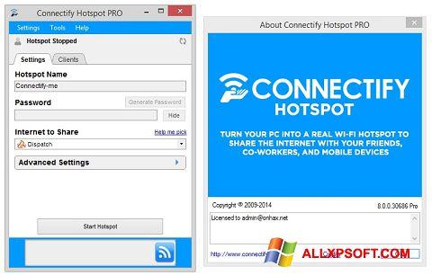 સ્ક્રીનશૉટ Connectify Hotspot Windows XP