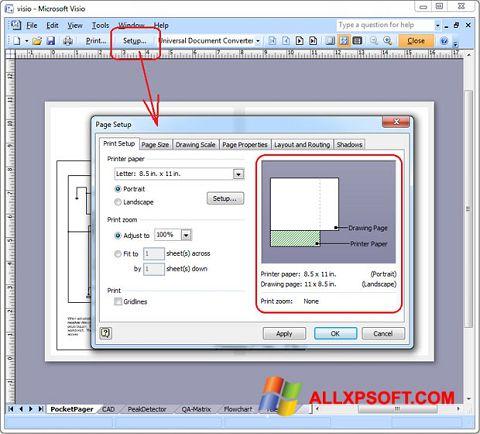 સ્ક્રીનશૉટ Microsoft Visio Windows XP
