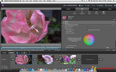 સ્ક્રીનશૉટ Adobe Premiere Elements Windows XP