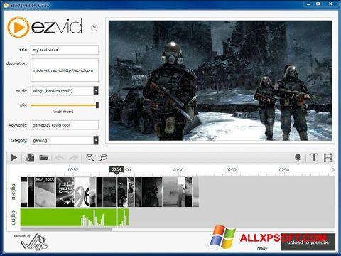 સ્ક્રીનશૉટ Ezvid Windows XP