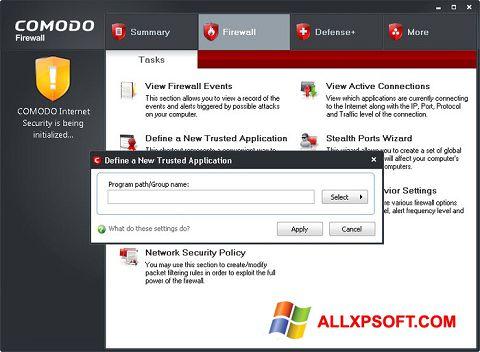 સ્ક્રીનશૉટ Comodo Firewall Windows XP