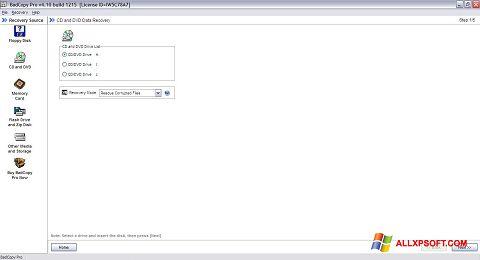 સ્ક્રીનશૉટ BadCopy Pro Windows XP