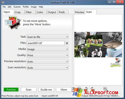 સ્ક્રીનશૉટ VueScan Windows XP