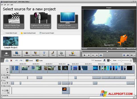 સ્ક્રીનશૉટ AVS Video Editor Windows XP