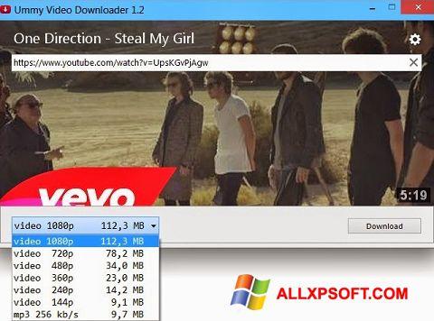 સ્ક્રીનશૉટ Ummy Video Downloader Windows XP