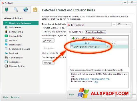 સ્ક્રીનશૉટ Time Boss Windows XP