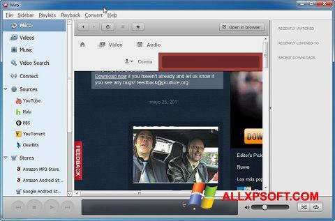 સ્ક્રીનશૉટ Miro Windows XP