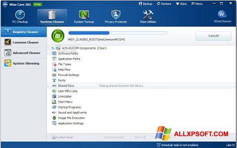 સ્ક્રીનશૉટ Wise Care 365 Windows XP