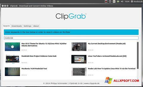 સ્ક્રીનશૉટ ClipGrab Windows XP