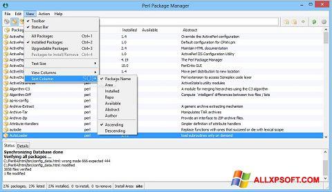 સ્ક્રીનશૉટ ActivePerl Windows XP
