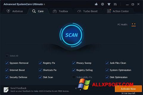 સ્ક્રીનશૉટ Advanced SystemCare Ultimate Windows XP