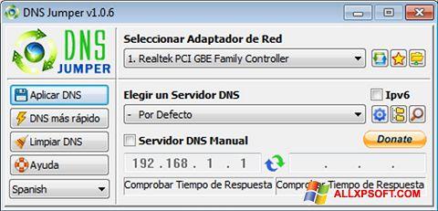 સ્ક્રીનશૉટ DNS Jumper Windows XP