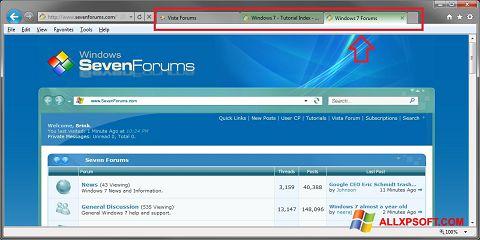 સ્ક્રીનશૉટ Internet Explorer Windows XP