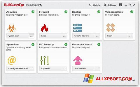 સ્ક્રીનશૉટ BullGuard Windows XP