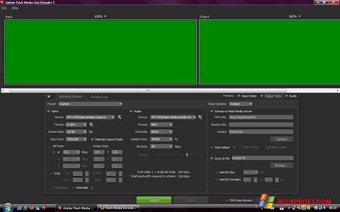સ્ક્રીનશૉટ Adobe Media Encoder Windows XP