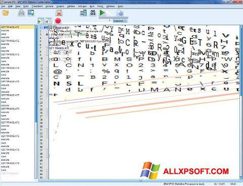 સ્ક્રીનશૉટ SPSS Windows XP