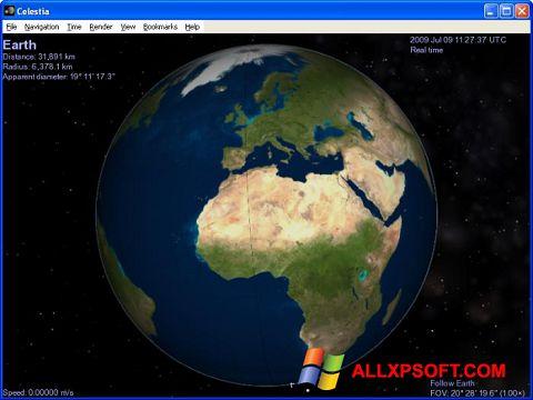 સ્ક્રીનશૉટ Celestia Windows XP