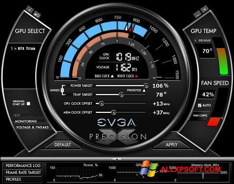 સ્ક્રીનશૉટ EVGA Precision X Windows XP