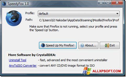 સ્ક્રીનશૉટ SpeedyFox Windows XP