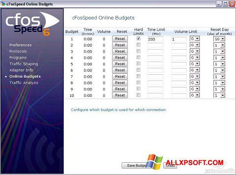 સ્ક્રીનશૉટ cFosSpeed Windows XP