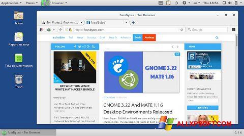 સ્ક્રીનશૉટ Tor Browser Windows XP
