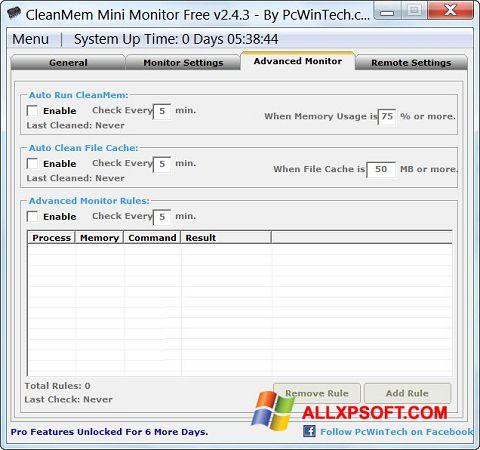 સ્ક્રીનશૉટ CleanMem Windows XP