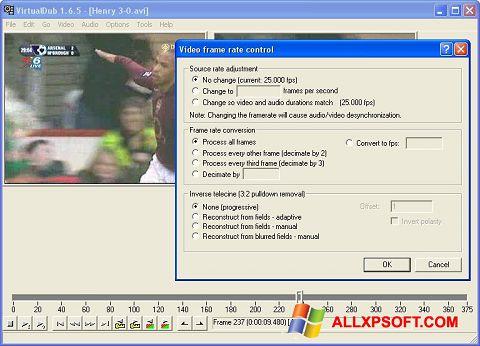 સ્ક્રીનશૉટ VirtualDubMod Windows XP