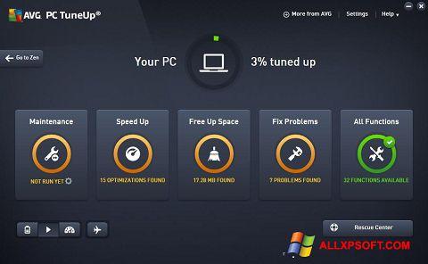 સ્ક્રીનશૉટ AVG PC Tuneup Windows XP