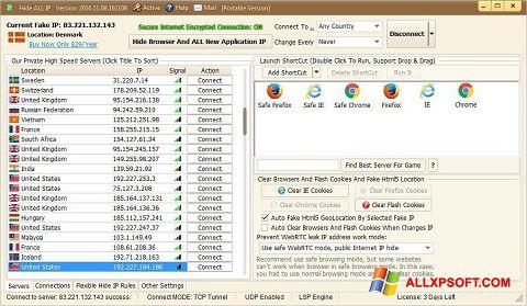 સ્ક્રીનશૉટ Hide ALL IP Windows XP