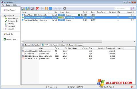 સ્ક્રીનશૉટ BitTorrent Windows XP