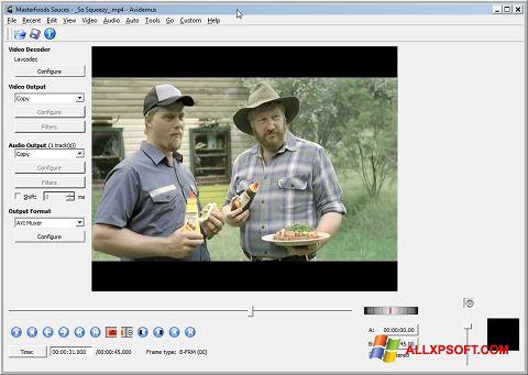 સ્ક્રીનશૉટ Avidemux Windows XP