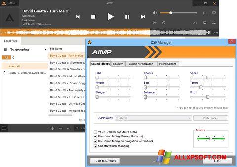સ્ક્રીનશૉટ AIMP Windows XP