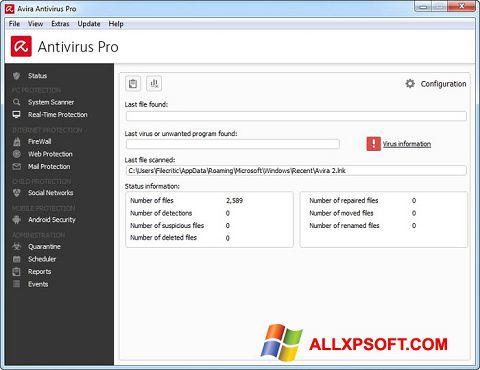 સ્ક્રીનશૉટ Avira Antivirus Pro Windows XP