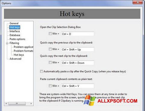 સ્ક્રીનશૉટ Clipdiary Windows XP