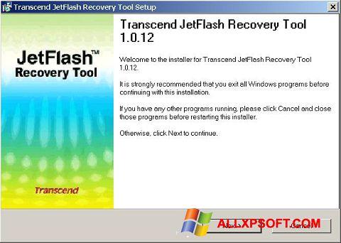 સ્ક્રીનશૉટ JetFlash Recovery Tool Windows XP
