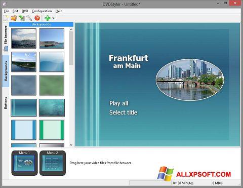સ્ક્રીનશૉટ DVDStyler Windows XP