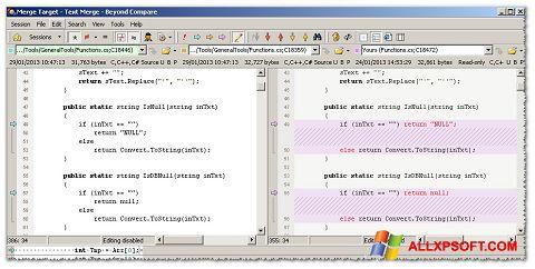 સ્ક્રીનશૉટ Beyond Compare Windows XP