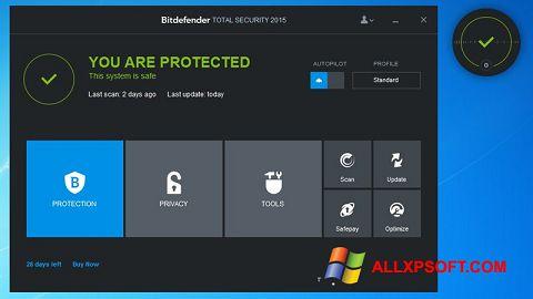 સ્ક્રીનશૉટ Bitdefender Windows XP