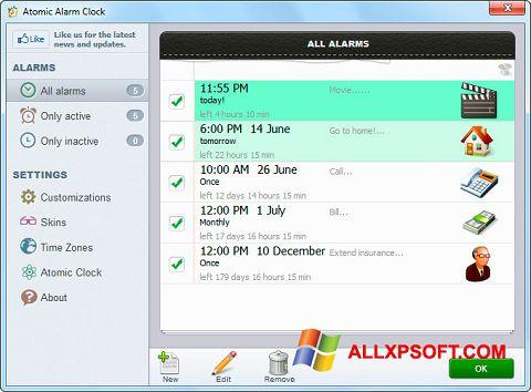 સ્ક્રીનશૉટ Atomic Alarm Clock Windows XP