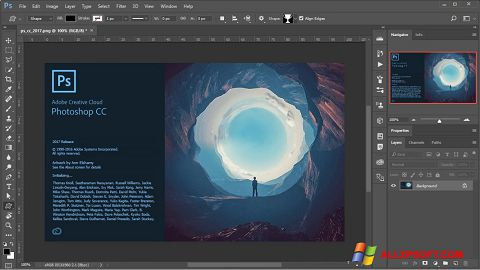સ્ક્રીનશૉટ Adobe Photoshop Windows XP