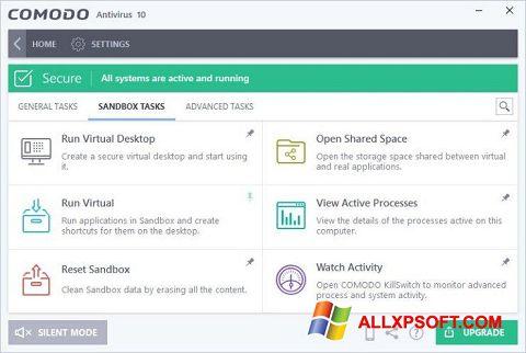 સ્ક્રીનશૉટ Comodo Antivirus Windows XP