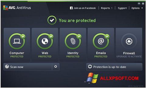સ્ક્રીનશૉટ AVG AntiVirus Pro Windows XP