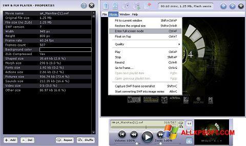 સ્ક્રીનશૉટ FLV Player Windows XP