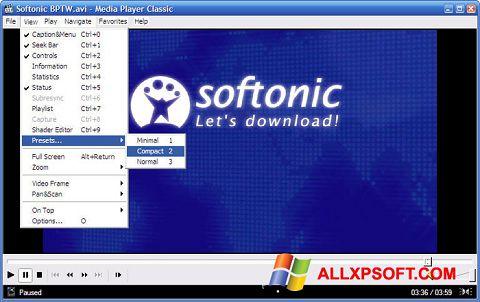 સ્ક્રીનશૉટ Media Player Classic Windows XP