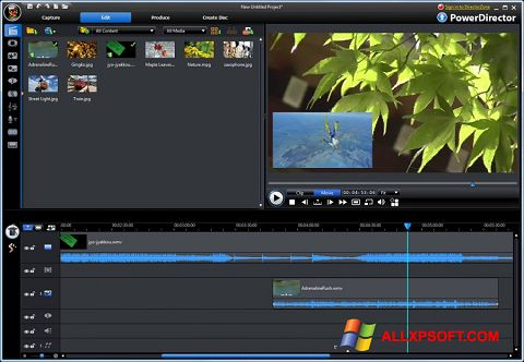 સ્ક્રીનશૉટ CyberLink PowerDirector Windows XP