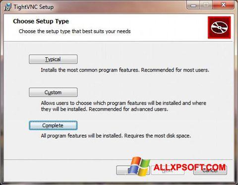 સ્ક્રીનશૉટ TightVNC Windows XP