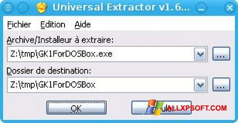 સ્ક્રીનશૉટ Universal Extractor Windows XP
