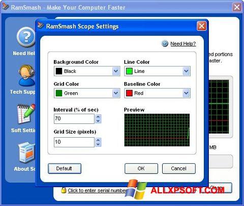 સ્ક્રીનશૉટ RamSmash Windows XP